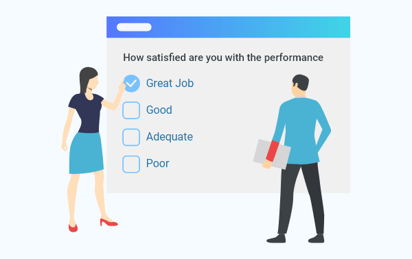 Techniques for evaluating employee performance - Competency on a scale