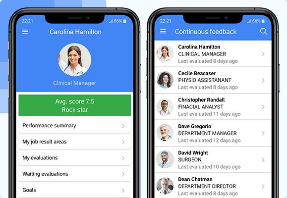 Employee performance management app - AssessTEAM