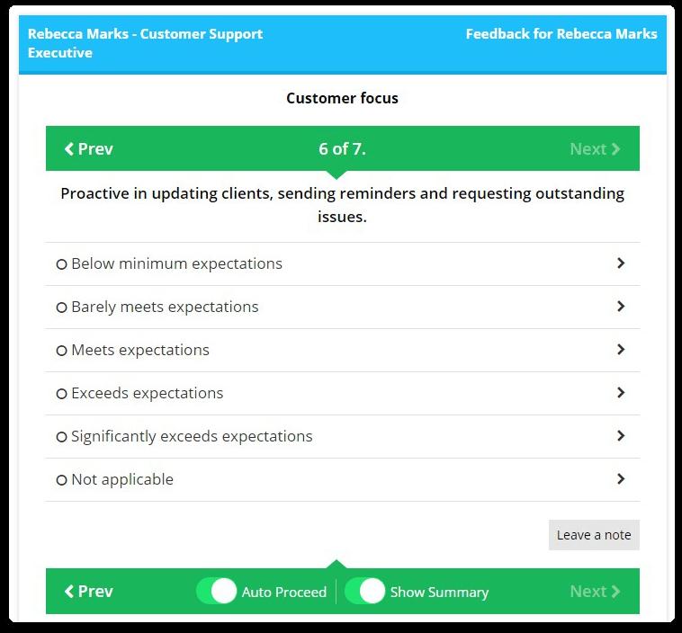 Employee performance management software - AssessTEAM