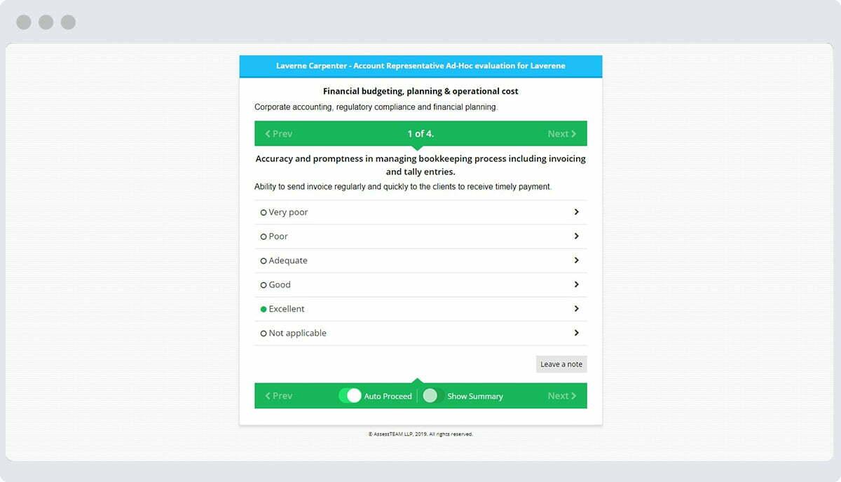 assessteam-evaluation